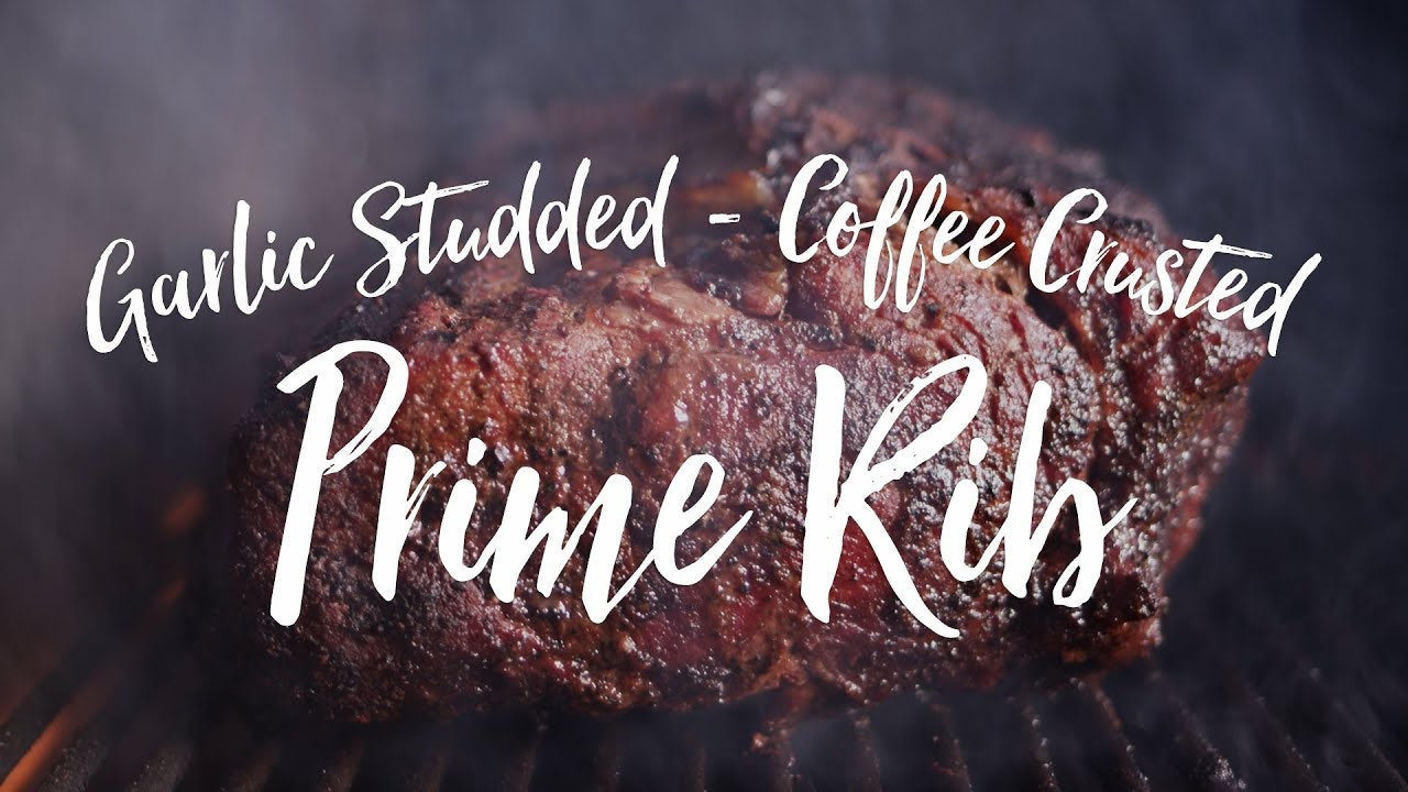 Garlic Studded, Coffee Crusted Prime Rib Recipe