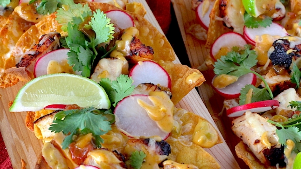 Grilled Cedar Plank Nachos Recipe