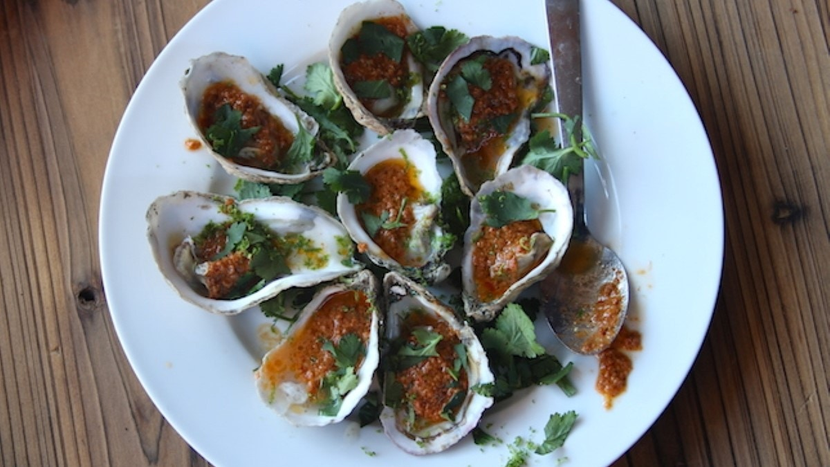 Grilled Oysters with Chorizo Butter Recipe