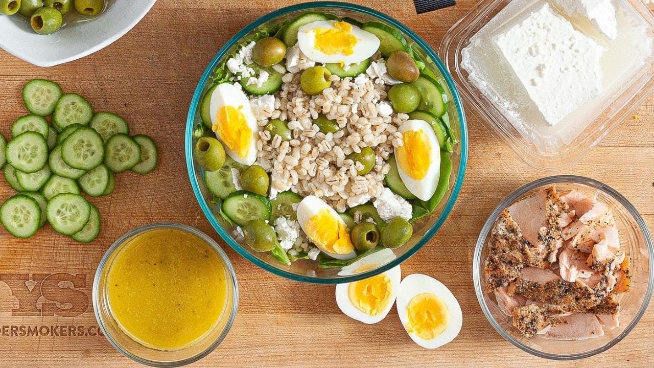 Grilled Salmon Grain Bowl Recipe