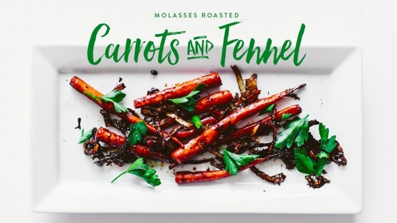 Molasses Roasted Carrots and Fennel Recipe