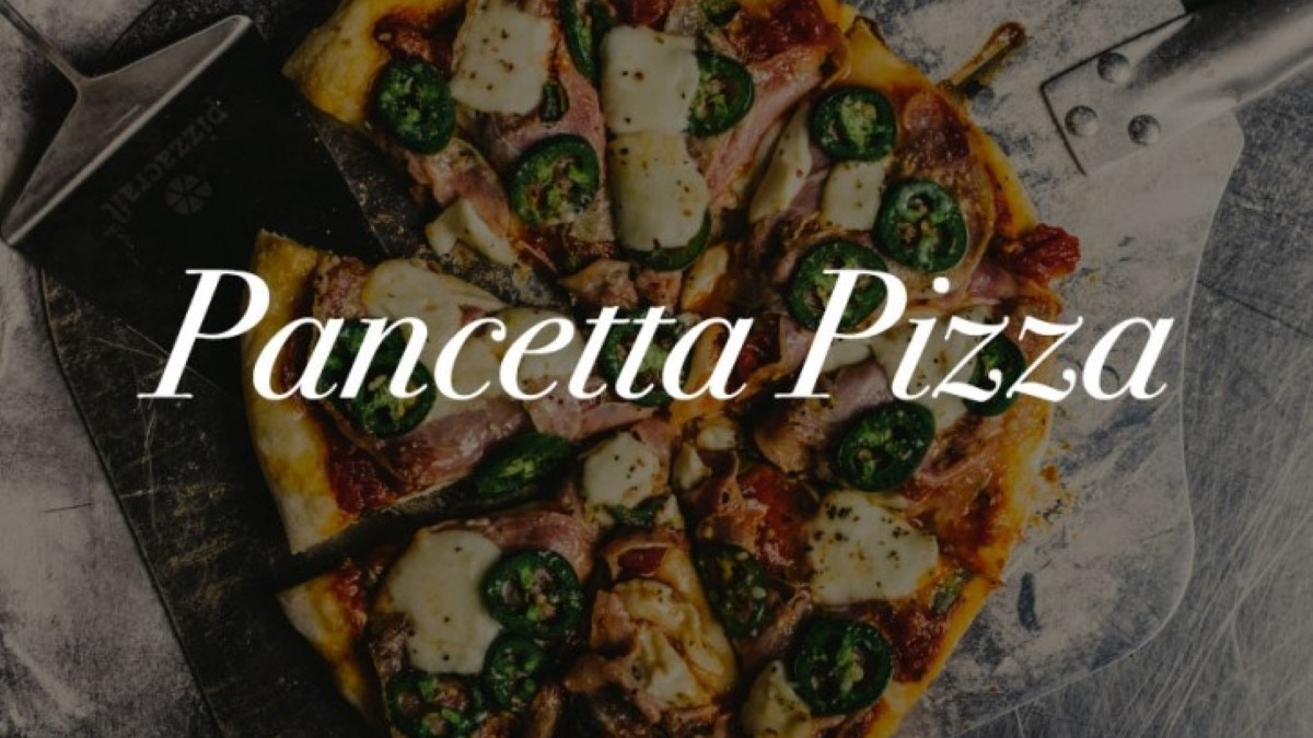 Pancetta Pizza on Kamado Joe Recipe