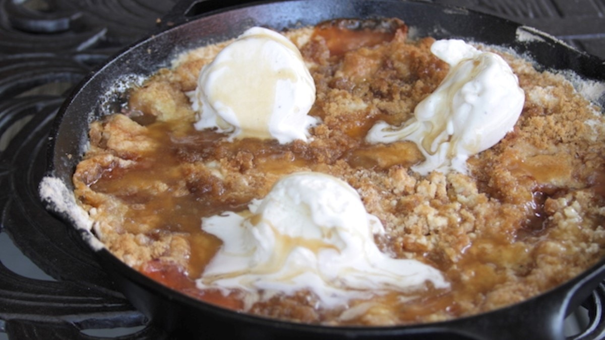 Peach Hazelnut Dump Cobbler Recipe