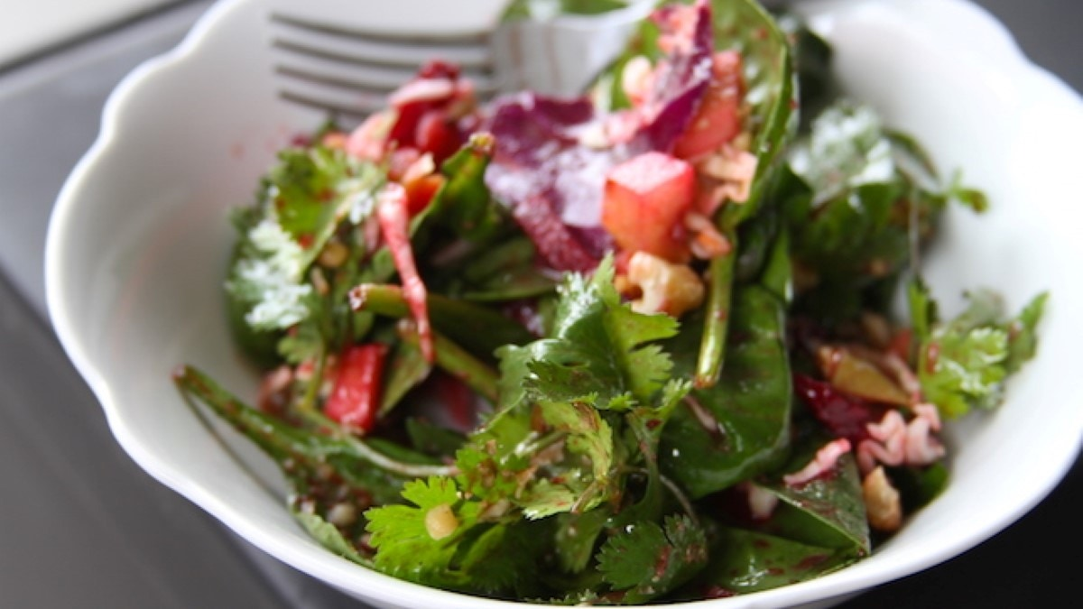 Asian Grilled Apple & Smoked Beet Salad Recipe