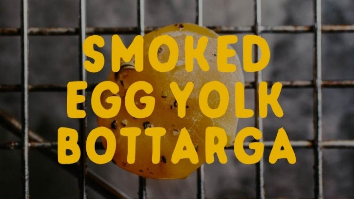 Smoked Egg Yolk Bottarga Recipe