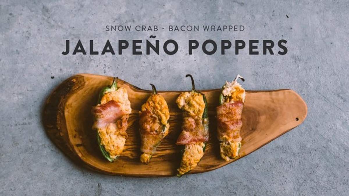 Snow Crab Jalapeño Poppers