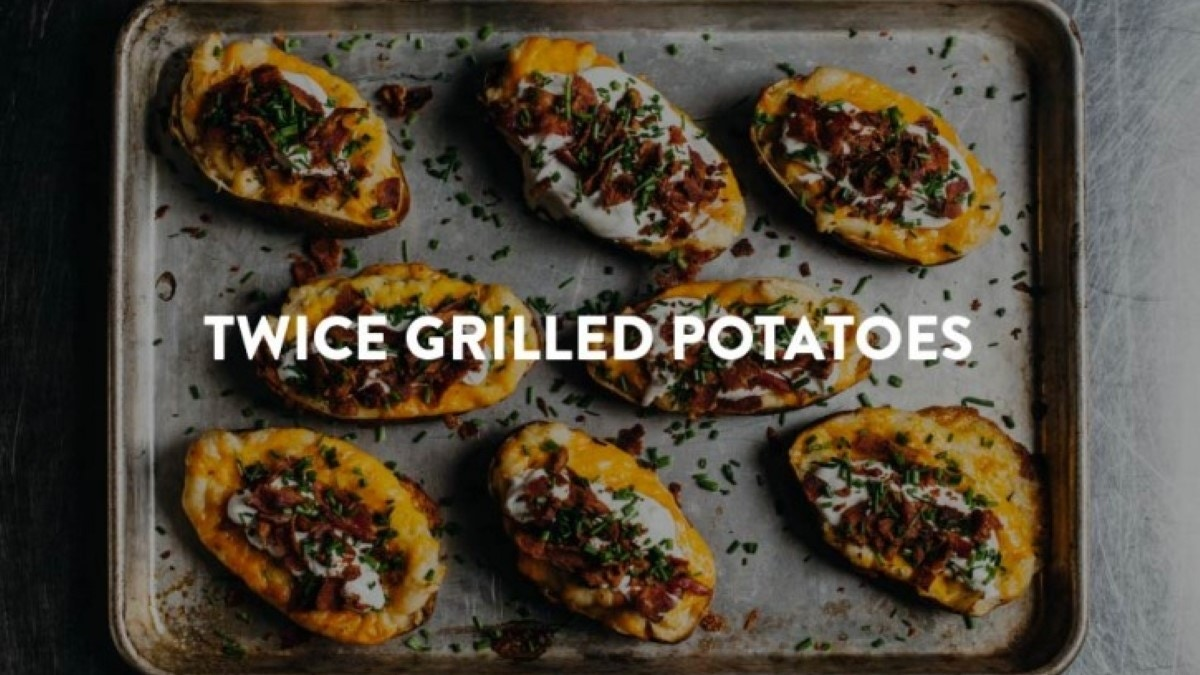 Twice Grilled Potatoes Recipe
