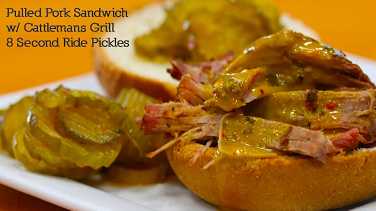 Recipe for Pulled Pork Sandwich with Cattleman's Grill Spicy Pickles