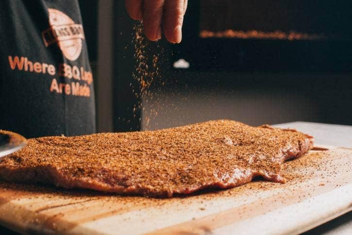 Seasoning the meat