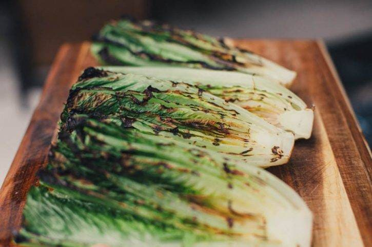 Start with the smokiness of grilled Romaine.