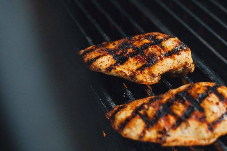 A little char on the chicken…