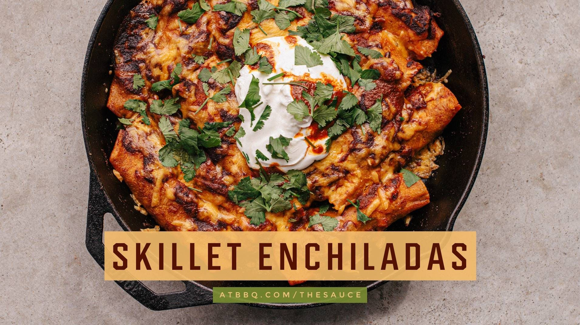 Red Chile Skillet Enchiladas Recipe