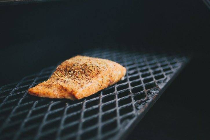We're starting with HOT smoked salmon, not the cold smoked cured salmon you see at the store (also, delicious). This will have a much more tender texture, while still carrying all of the smoky, salmon-y goodness we all enjoy!