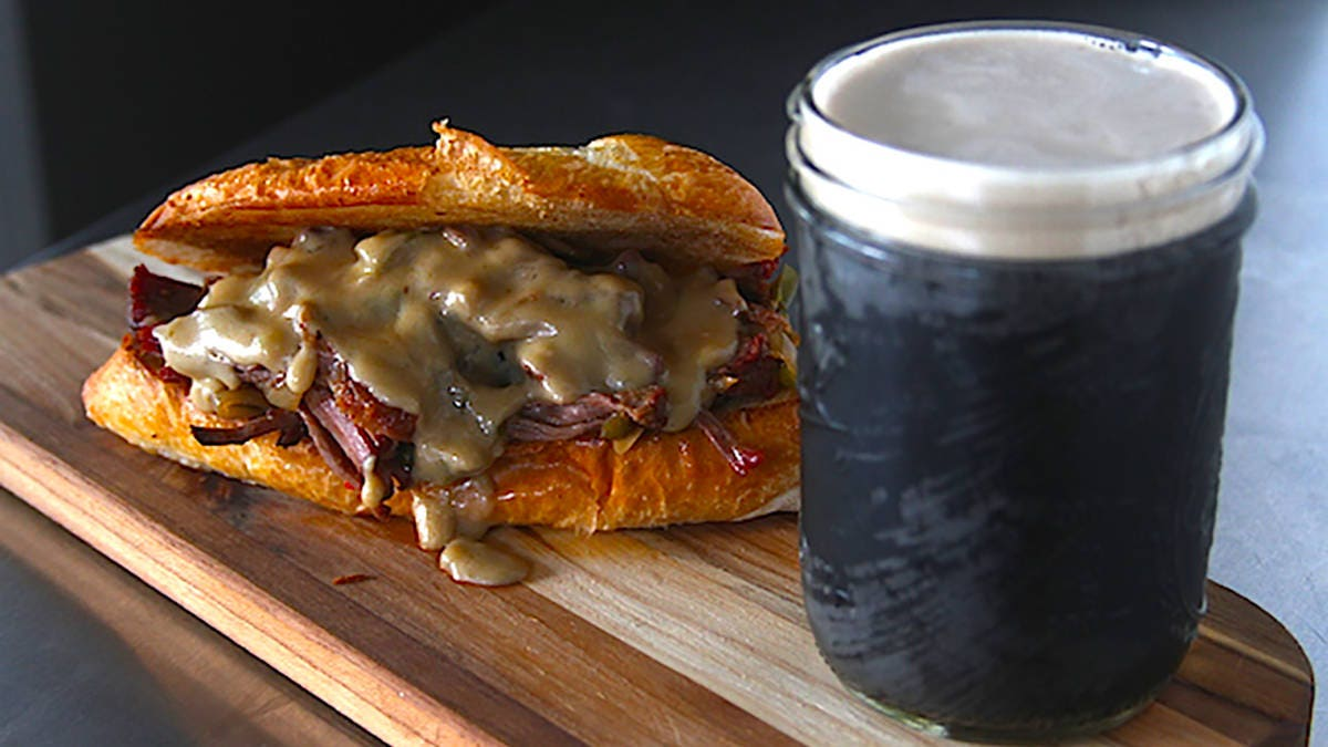 Pulled Pepper Stout Chuck Roast and Guinness Cheese Sauce Recipe