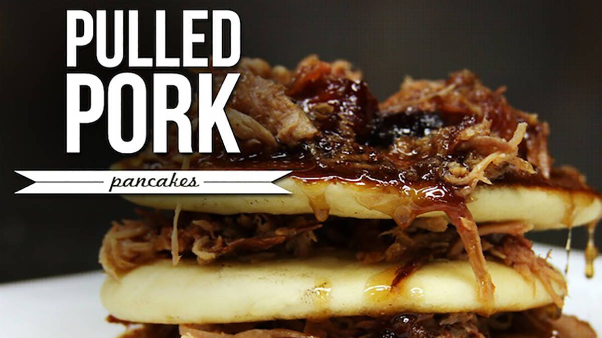 How to make Pulled Pork Pancakes with Jack Daniels Reduction Sauce