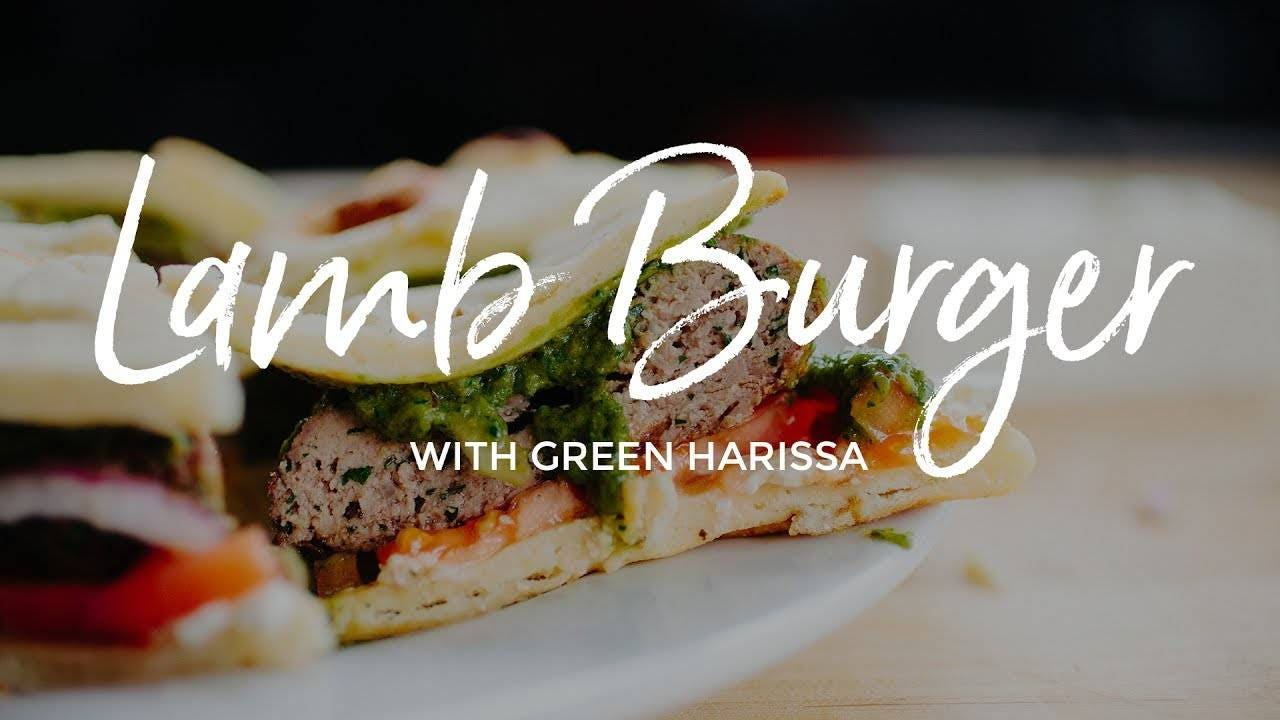 How to make Lamb Burger with Green Harissa