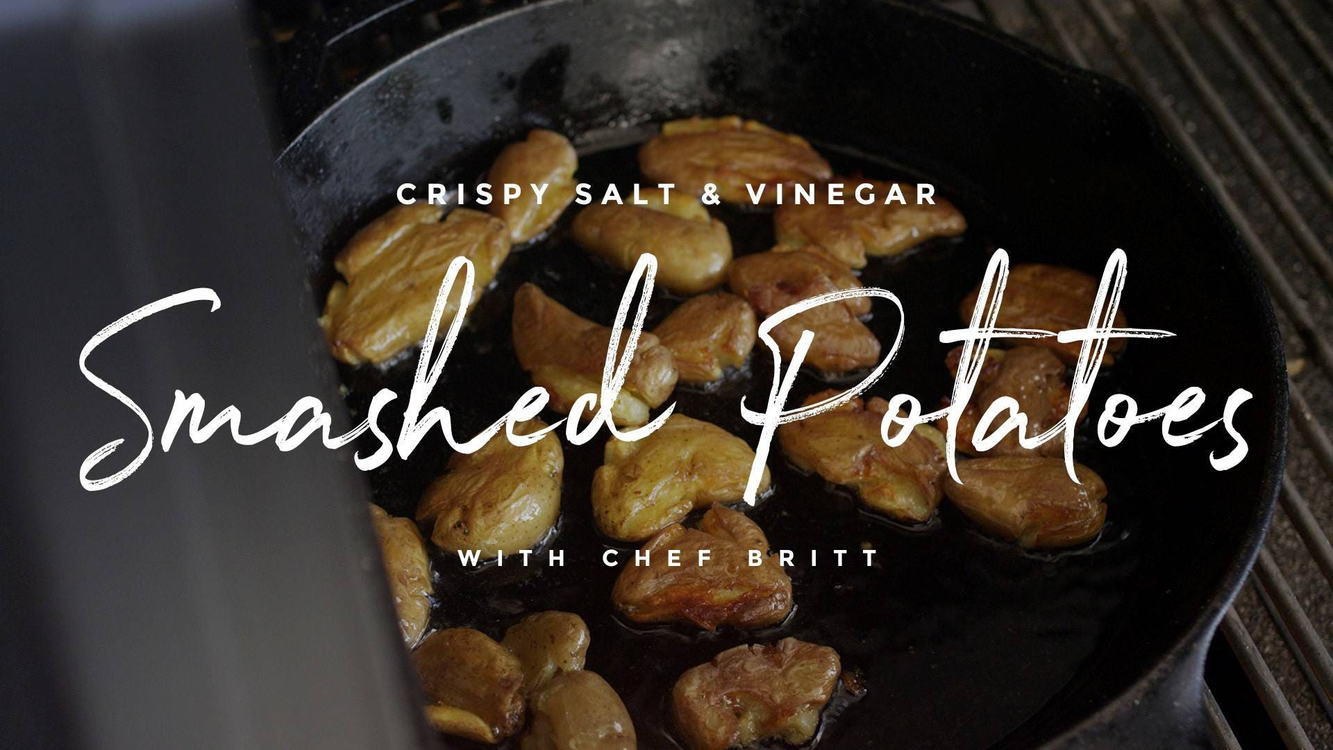 How to make Salt & Vinegar Crispy Smashed Potatoes