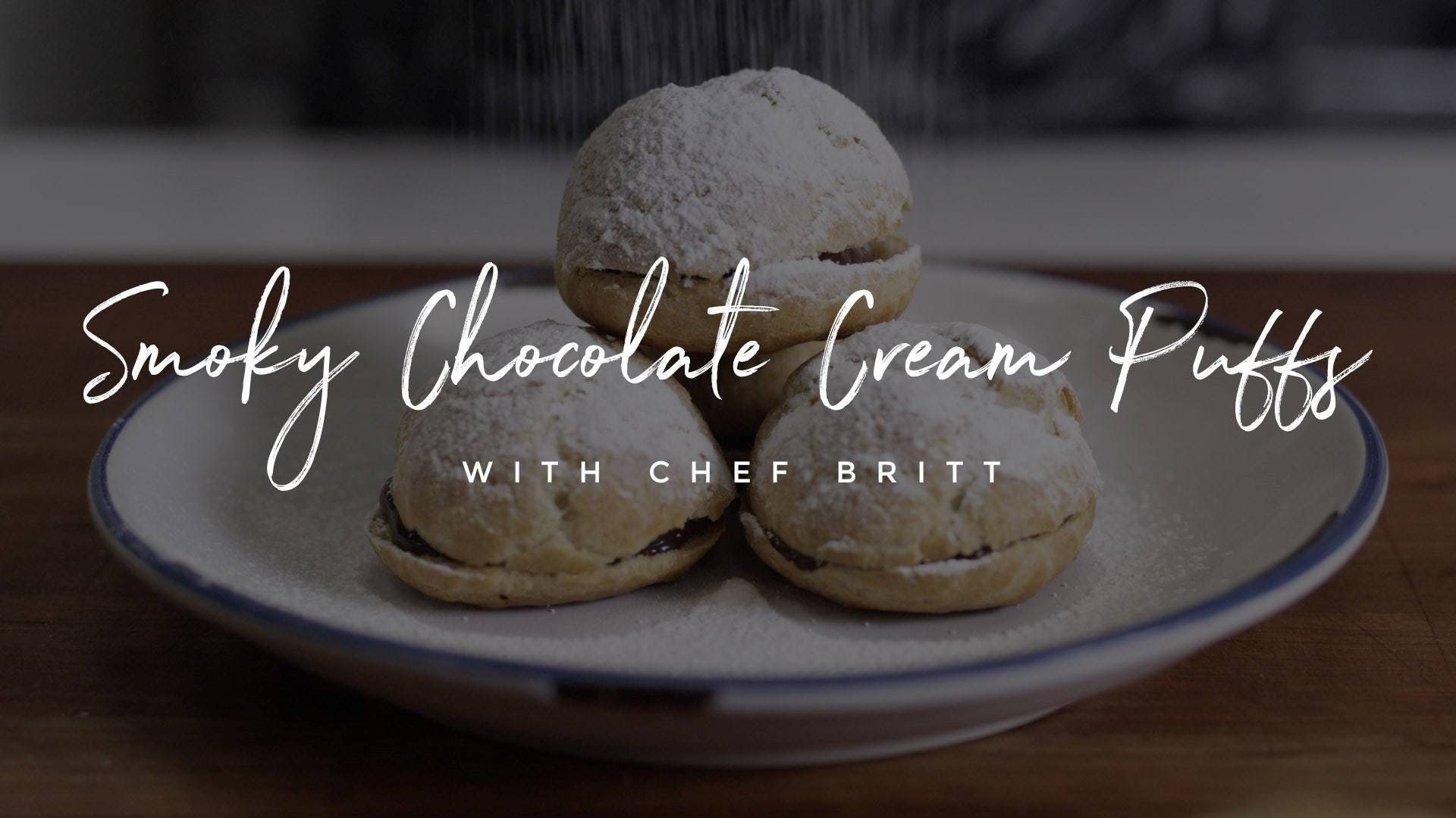 Smoky Chocolate Cream Puffs Recipe