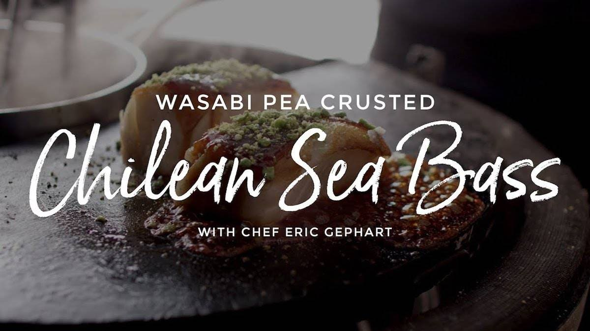 Recipe for Wasabi Pea Crusted Chilean Sea Bass