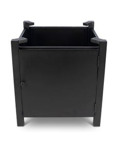 Square Fire Table Base with Round Burner