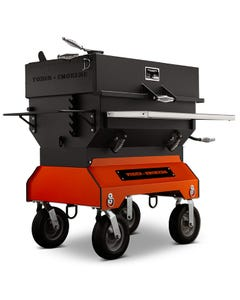 "Yoder Smokers 36"" Adjustable Charcoal Grill on Competition Cart, Orange"