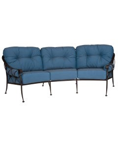 Woodard Derby Crescent Sofa Set with Aztec Bronze Frame