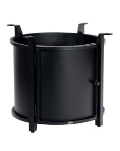 Round Chat Height Fire Table Base with Round Burner