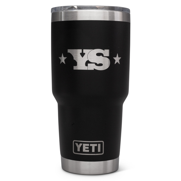 YETI Rambler 30 oz Tumbler with Yoder Smokers Logo