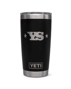 YETI Rambler 20 oz Tumbler with Yoder Smokers Logo