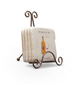 Wine Sayings Coasters, Set of 4