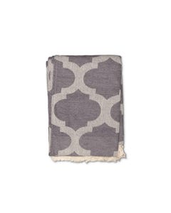 Surya Trellis Cream and Charcoal Throw