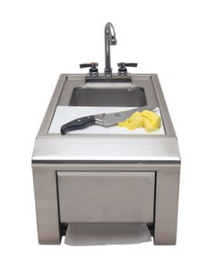 "Alfresco 14"" Prep and Hand Wash Sink"