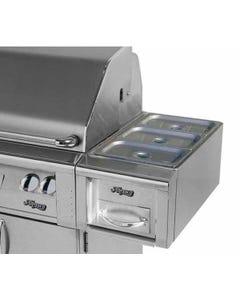 "Alfresco 14"" Cart Mount Food Warmer"