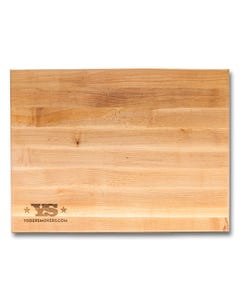 "Boos Block Maple Cutting Board with Yoder Smokers Logo, 20"" x 15"" x 1.5"""