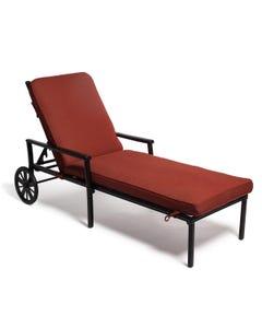 Chaise Lounge Cushion in Dupione Henna