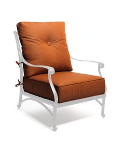 Club Cushion in Chili Linen