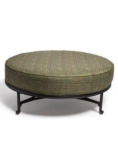 """48"""" Round Ottoman Cushion in Lally Garden"""