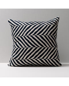 Colored Geometric Throw Pillows-Chevy Navy