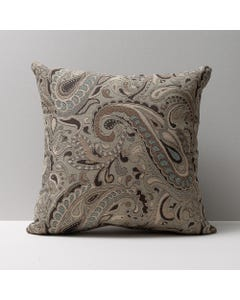 Neutral Patterned Throw Pillows-Bally Castle Seaglass 18in