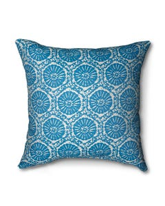 Casual Cushion Throw Pillow in Fossil Chambray