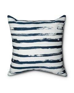 Casual Cushion Throw Pillow in Mariner Stripe Indigo