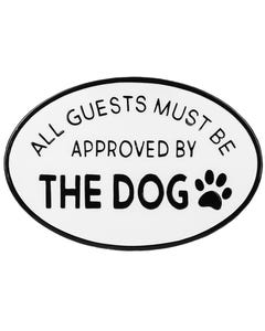 Ganz Black and White Approved by Dog Sign