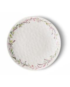 """Merritt 11"""" Round Bloom and Vine Melamine Dinner Plate"""