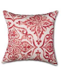 Casual Cushion Throw Pillow in Mercato Sangria
