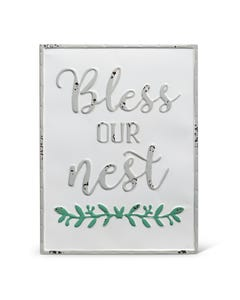 """Midwest CBK """"Bless Our Nest"""" Enamelware Sign"""