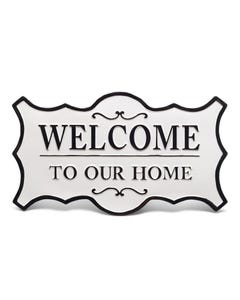 """Midwest CBK Enamel """"Welcome to Our Home"""" Wall Sign"""