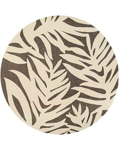 Couristan Outdoor Rug, 7'10 Round Covington Palms in Mocha