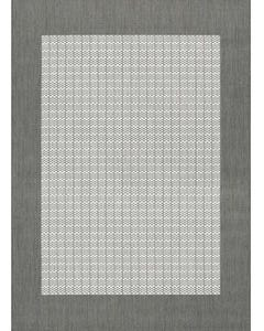 Couristan Outdoor Rug, Recife Checkered Field in Grey & White