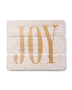 Joy Wood Wall Decor
