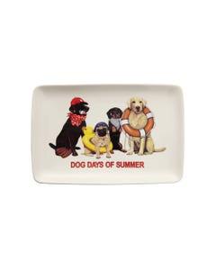 Dog Days of Summer Stoneware Rectangle Platter